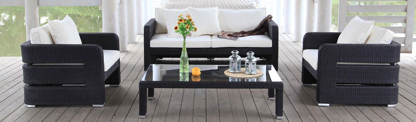 Poly-Rattan Lounge kaufen - Rattan Gartenmöbel