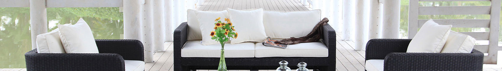 Grosse Lounge Rattan kaufen - Rattan Gartenmöbel