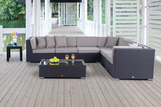 grosse lounge rattan kaufen rattan gartenm bel. Black Bedroom Furniture Sets. Home Design Ideas